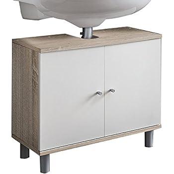 Vcm 50422 Waschtischunterschrank Wascho Eiche Sagerau Amazon De
