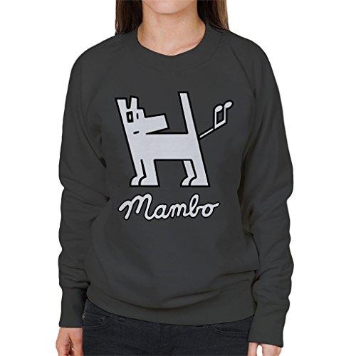 Mambo Dog Nut White Women's Sweatshirt Charcoal