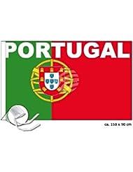 MIDI Shopping–bandera portugués Portugal Flag National International Europe 150x 90cm FL-12