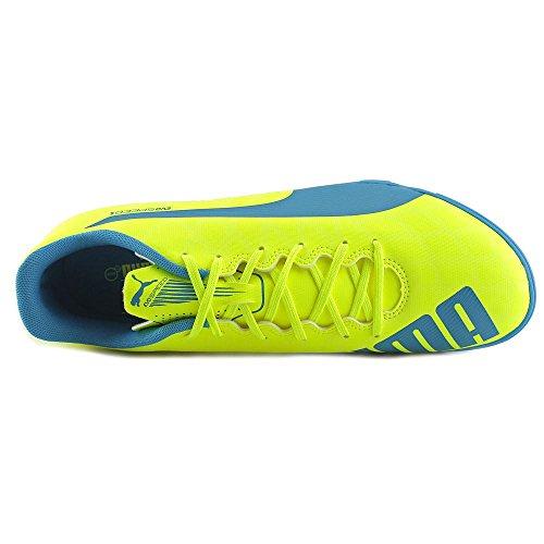 Puma evoSpeed 5.4 TT Synthetik Laufschuh Yellow-Blue-White