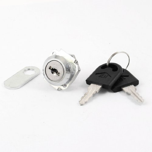 Möbel Schrank Mailbox Schublade Silber Tone Metall Cam Lock w 2Schlüssel