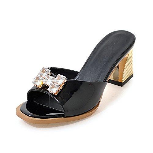 Signore coreano e tacchi grezzi/fiocco strass Sandali e infradite donna/pantofole all'aperto/Scarpe principessa A