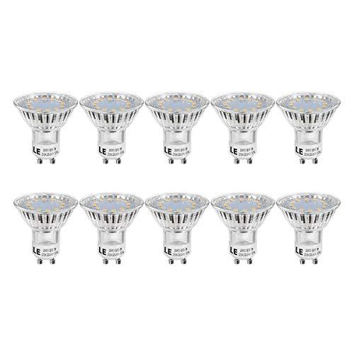 LE GU10 LED Lampe, 3W 250 Lumen LED Leuchtmittel, 2700 Kelvin Warmweiß ersetzt 35W Halogenlampen, 10er Pack