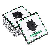 BESTOYARD Etichette Regalo Stampa Pipistrello per Sacchetto Caramella Biscotto Decorazione Halloween