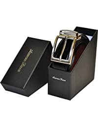 Ashford Ridge en boîte cadeau Twist 34 mm ceinture en cuir enduit réversible en noir/brun (tailles 80cm - 120cm)