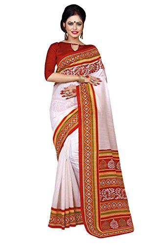 Applecreation Women's bhagalpuri sarees (printed sarees_6PJ709_FreeSize)
