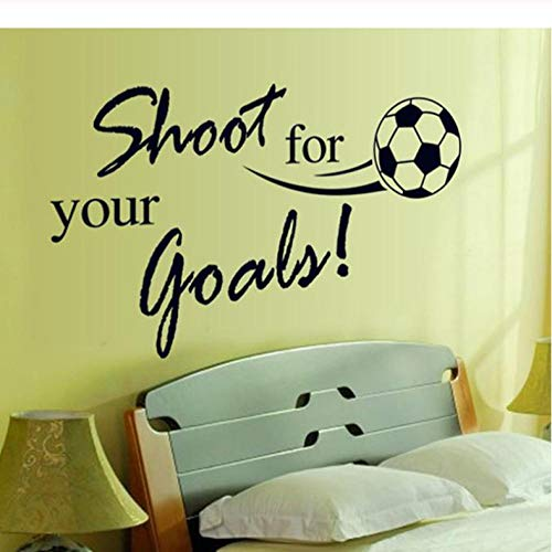 shoot for your goals quotes football wall stickers for kids rooms living room boy's bedroom decor wall art decals gift