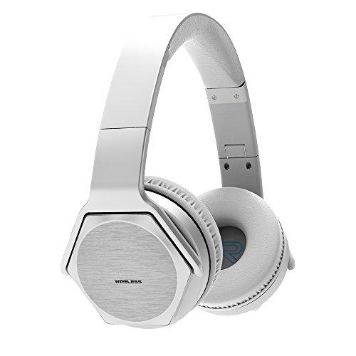 Veenax hs3 cuffie over ear, auricolari senza fili bluetooth headset sistemi di altoparlanti con cavo e wireless ricaricabili pieghevoli con microfono per iphone samsung telefoni, argento