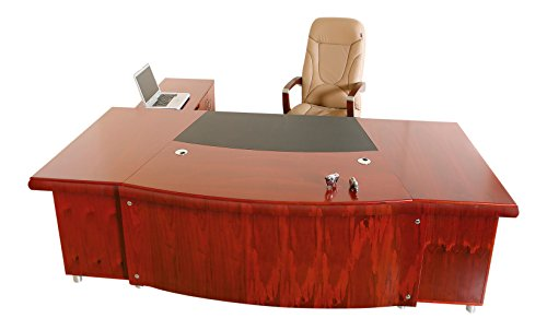 Chef Schreibtisch Büromöbel Buero Paris rechtsseitig Kirschholz Echtholz von Jet-Line (Chef Büromöbel)