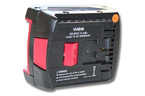 BATERIA VHBW 4000MAH (14 4V) PARA HERRAMIENTAS BOSCH GDS 14 4 V-LI  GDS 14 4 V-LIN  GHO 14 4 V-LI  GSB 14 4 VE-2-LI  GSB 14 4 VE-2-LIN  GSB 14 4-2-LI