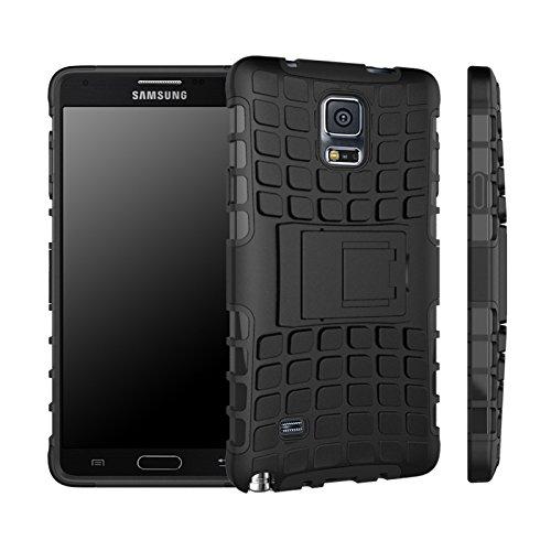 Etui Protektor Samsung Galaxy Note 416/32/64GB (3G/WIFI/4G/LTE) totale Nero con stand––Custodia di protezione Silicone con stand Nokia 930–prezzi scoperta accessori tasca XEPTIO Case