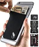 El Monedero Adhesivo Gecko para teléfonos celulares, Diseño Ultra Slim (Ultra Delgado) & Custom (Personalizado) en Color Negro LGBT