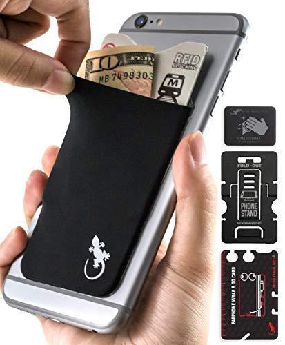 """La conveniencia de llevar lo que necesitas, la seguridad de que tus datos no pueden ser leídos ni escaneados y el deleite de mostrar tu cartera/ billetera única a los amigos""""La billetera/ cartera Gecko se ajusta fácilmente a la mayoría de teléfonos c..."""