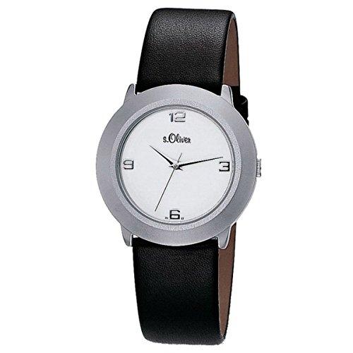 Montre bracelet s.Oliver - À quartz - Analogique - Pour femme - Avec bracelet en cuir - SO-15060-LQR