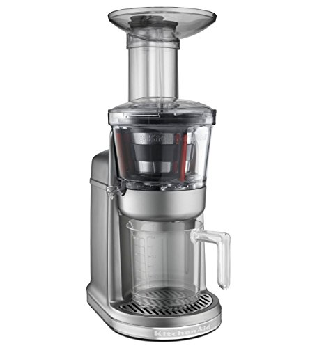 KitchenAid 5KVJ0111 - Exprimidor (Exprimidor, Gris, 80 RPM, 1,22 m, Metal, De plástico, 250 W)