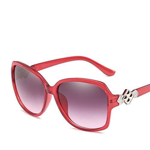 Aoligei Europa und die Vereinigten Staaten großzügige Rahmen Dame dekorative Sonnenbrille stilvolle Licht Anti-UV Sonnenbrille Sonne Brille
