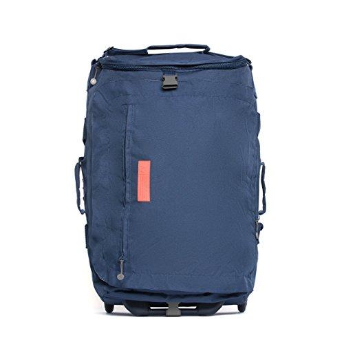 Imagen de eco maleta plegable con ruedas convertible a  hecha de material reciclado rpet azul oscuro