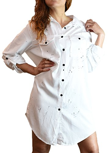 womens-oversized-fashion-dotted-long-sleeve-shirt-white