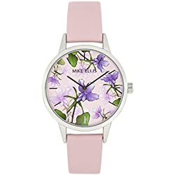 Mike Ellis New York Women's Quartz Watch with Multicolour Dial Analogue Display and Leather Purple - SL4310C8