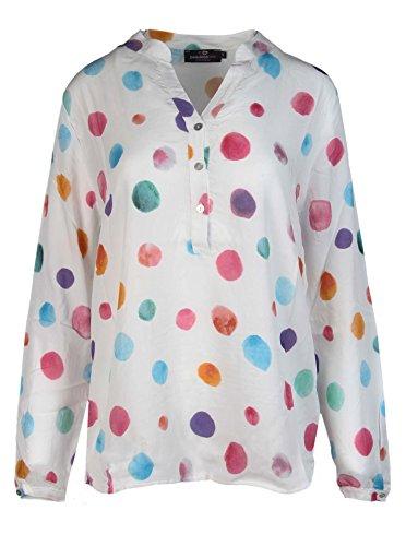 53321a9424e6 Zwillingsherz Bluse mit Punkte Muster - Hochwertiges Oberteil für Damen  Mädchen - Langarmshirt Top - T