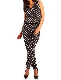 Damen Zipper Overall Jumpsuit Pump
