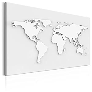 murando Tablero De Corcho & Cuadro en Lienzo 120×80 cm No Tejido XXL Estampado Memoboard Decoración De Pared Impresión Artística Fotografía Gráfica Poster Mapamundi Mapa del Mundo k-B-0013-p-a