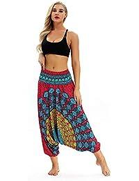 Pantalones Harem De Uniex ❤ Absolute ❤ Hombres Mujeres Moda Casual Pantalones Sueltos Hippy