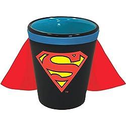 DC Comics Superman Logo Caped Ceramic Vidrio De Tiro