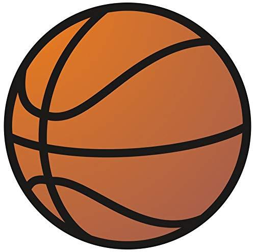Samunshi® Basketball Aufkleber Sticker Autoaufkleber Scheibenaufkleber in 8 Größen (10x10cm Mehrfarbig) -