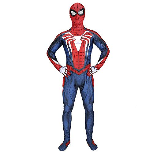 Cosplay Kleidung Marvel Spiderman Anime Kostüm PS4 Spiel Spider-Man Cosplay Kostüm Prop Bodysuit Overalls Kleidung Film Party Hero Battle Suit Erwachsene Kostüm L (Für Erwachsene Kostüm Hero)