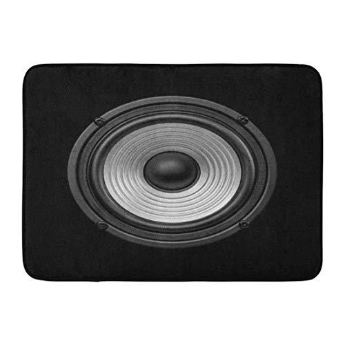 Rongpona Fußmatten Badteppiche Outdoor/Indoor Fußmatte Subwoofer Frontal Audio Lautsprecher Undulating Membrane Schwarz und Weiß Sound Musik Badezimmer Dekor Teppich Badematte - Zyklus-sound-lautsprecher