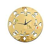 3D reloj de pared Bricolaje Poker de Dados decoración Cuarto sala Cocina y así sucesivamente , gold , C