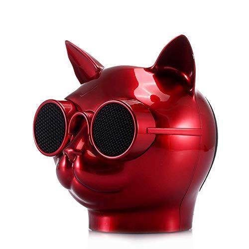 1DFAUL Mini-Karikatur-drahtloser Bluetooth-Sprecher, Katzen-Kopf-Form-tragbare Stereo-Subwoofer-Freisprecher für Innenaußen