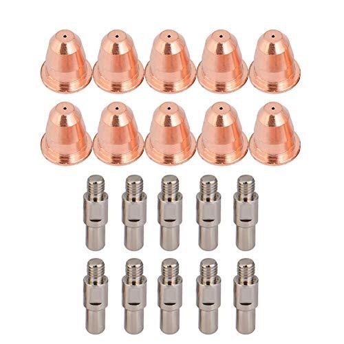 20 Stück PR0110 PD0116 Plasmaschneider Taschenlampe Düse Elektrode 0,8 mm Spitzen für S25K S45