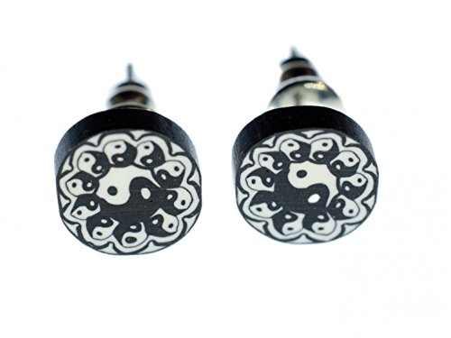 Yin Yang Ohrstecker Miniblings Stecker Ohrringe Esoterik chinesisch Gegensätze