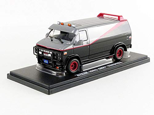 Greenlight Collectibles 86515, A-TEAM DieCast Furgone GMC VANDURA 1983 12cm, Scala 1/43, Nero