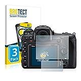 BROTECT Panzerglasfolie für Nikon D500 Panzerfolie [3er Pack] Schutzfolie - Flexible Glasfolie [AirGlass], Displayschutzfolie