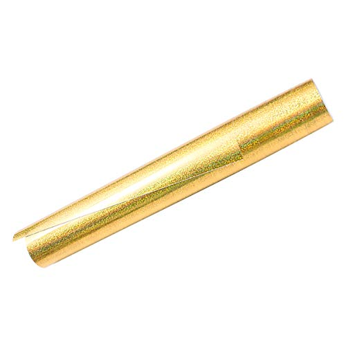 SUPVOX Glitterwärmeübertragungvinylpvcvinylfilmschriftzugfilmeisenauftransferhitzepressefürdiydesignt-shirtskleidungtaschen30 5x155cm(golden)