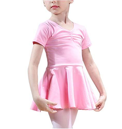 Mädchen Ballett Latin Dance Kostüm - Praxiskleidung Show Fancy National Dress Wear Sommer Baumwolle Röcke Grün Rosa 150CM - Dress Rosa Fancy Mädchen