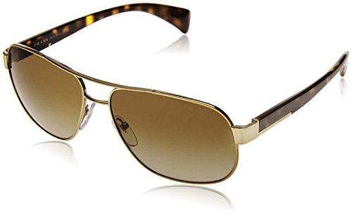 Prada Herren PR52PS Sonnenbrille, Pale Gold ZVN1X1), One size (Herstellergröße: 61)