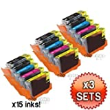 Canon CLI8 / PGI5 WITH CHIP - 3 x Multipack Canon Compatible Printer Ink Cartridges for Canon Pixma MP500 MP530 MP600 MP600R MP610 MP800 MP800R MP810 MP830 iP4200 iP4300 iP4500 iP5200 iP5200R iP5300 Printer Inks CLI-8 / PGI-5 (Contains: CLI-8C, CLI-8Y, CLI-8M,CLI-8B, PGI-5BK) Highest quality by Cobrainks By N/A (0001-01-01)