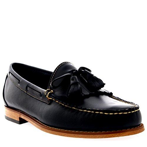 uns Layton Pull Up Kiltie Leder Müßiggänger Schuhe - Marine - 43 ()