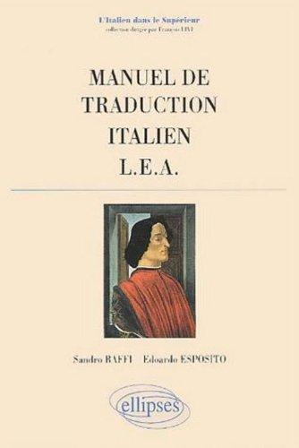 Manuel de traduction, LEA : Italien