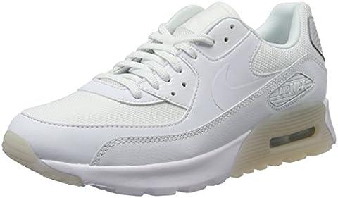 Nike Damen Air Max 90 Ultra Essential Sneaker, Weiß (White/White-Pure Platinum), 40 EU