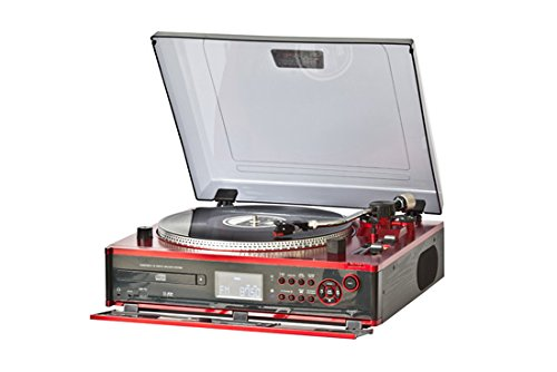 Lauson CL137 - Tocadiscos Profesional - Función pitch, CD/MP3, Giradiscos con Funcion Encoding, USB, Radio FM, Vinilos