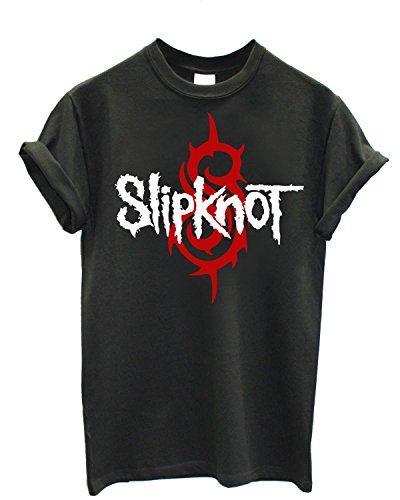 T-shirt Uomo Slipknot - S logo Maglietta 100% cotone LaMAGLIERIA,M, Grafite
