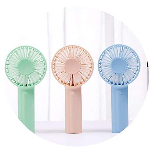 Minihandportable Fan USB aufladbare Batteriebetriebene Hand Fan zwei Modi für Heim Schlafzimmer und Outdoor-Reisen, Rosa -
