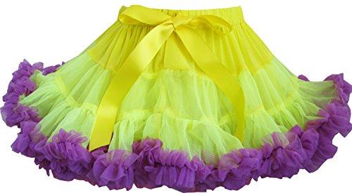 Blau Und Tutu Kind Lila (Mädchen Kleid Tutu Tanzen Rock Blau Lila Gefaltet)