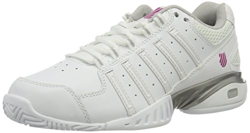 K-Swiss Performance Damen Receiver Iii Tennisschuhe, Weiß (White/Silver/VERYBERRY), 39.5 EU