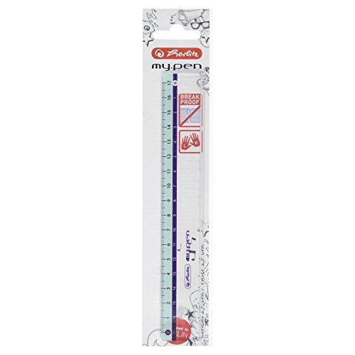 Herlitz Lineal, my pen, Kunststoff, 17 cm, farbig sortiert